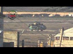 فيديو تدمير مروحتين ودبابة لنظام الأسد في مطار منغ بحلب