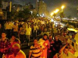 المسيرات الليلية تنطلق في المحافظات المصرية وتتحدى حظر التجول